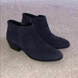 Sam Edelman Navy Suede Booties
